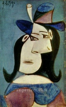 Buste de femme au chapeau 2 1939 Cubism Oil Paintings