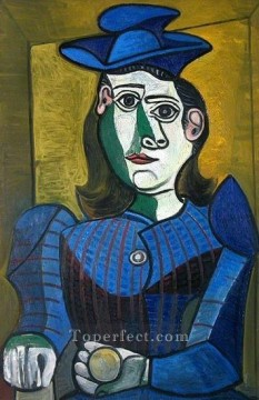 Buste de femme au chapeau 2 1962 Cubism Oil Paintings