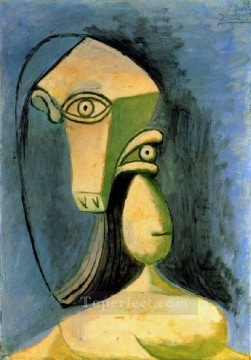 Buste de figure feminine 1940 Cubism Oil Paintings
