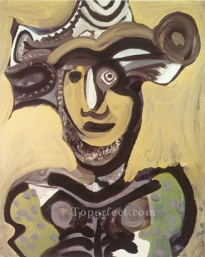 Buste de mousquetaire 1972 Cubism Oil Paintings