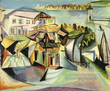 Cafe a Royan Le cafe 1940 Cubism Oil Paintings
