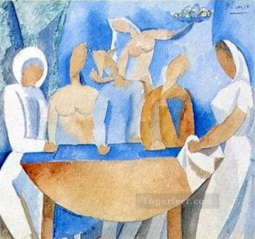 Carnaval au bistrot tude 1908 Cubism Oil Paintings