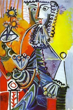 Cavalier with Pipe 1968 Cubism Oil Paintings