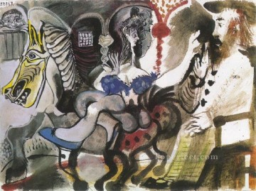 Cavaliers du cirque 1967 Cubism Oil Paintings
