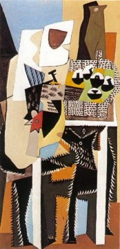 Chien et coq 1921 Cubism Oil Paintings