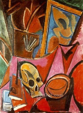 Composition avec Tete de mort 1908 Cubism Oil Paintings