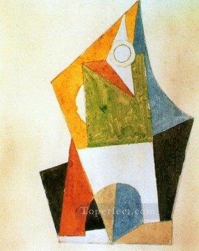 Cubism Painting - Composition geometrique 1920 Cubism