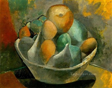 Compotier et fruits 1908 Cubism Oil Paintings