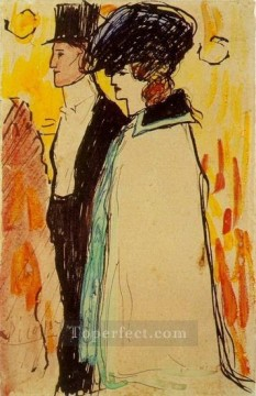 Famous Abstract Painting - Couple de Rastaquoueres 1901 Cubism