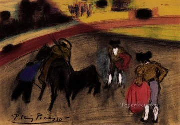 Courses de taureaux Corrida 3 1900 Cubism Oil Paintings