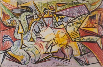 Courses de taureaux Corrida 3 1934 Cubism Oil Paintings