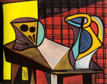 Crane et pichet 1946 Cubism Oil Paintings