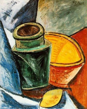 Cruche bol et citron 1907 Cubism Oil Paintings