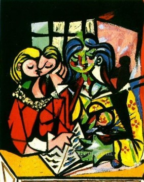 Deux personnages 1 1934 Cubism Oil Paintings
