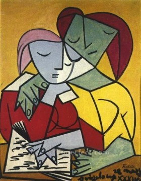 Famous Abstract Painting - Deux personnages 2 1934 Cubism