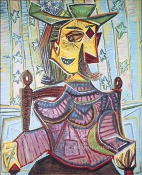 Dora Maar assise 1939 Cubism Oil Paintings
