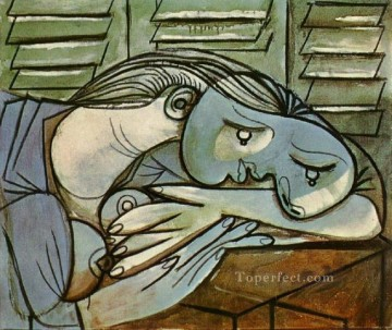 Dormeuse aux persiennes 1 1936 Cubism Oil Paintings