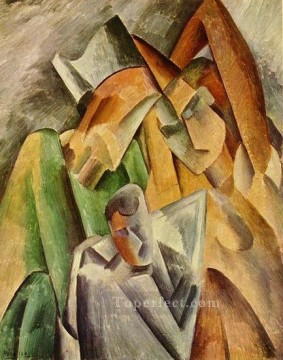 Famille d Arlequin 1909 Cubism Oil Paintings
