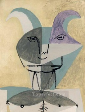 Faune 1960 Cubism Oil Paintings