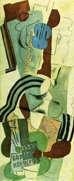 Femme a la guitare 1911 Cubism Oil Paintings