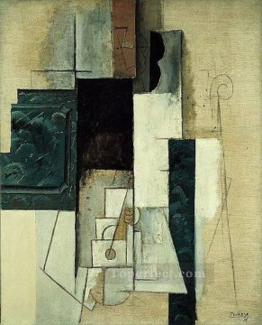 Femme a la guitare1 1913 Cubism Oil Paintings