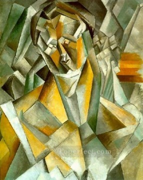 Femme assise 1 1909 Cubism Oil Paintings