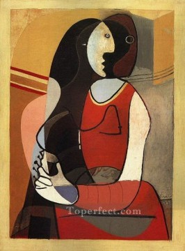 Femme assise 1 1937 Cubism Oil Paintings