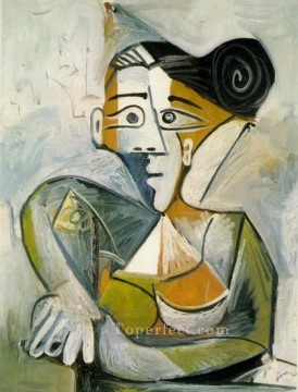 Femme assise 1 1938 Cubism Oil Paintings