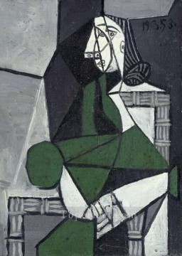 Femme assise 1926 Cubism Oil Paintings