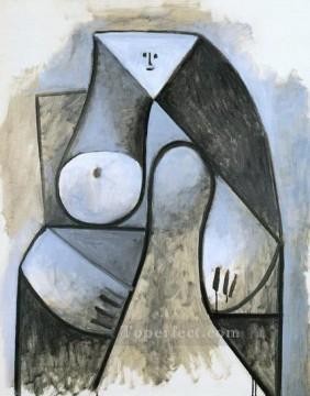 Femme assise 1929 Cubism Oil Paintings
