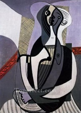 Femme assise 2 1927 Cubism Oil Paintings
