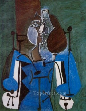 Femme assise 2 1939 Cubism Oil Paintings