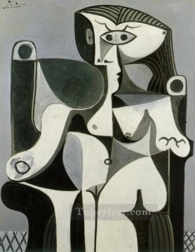 Femme assise Jacqueline 1962 Cubism Oil Paintings