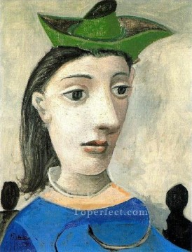 Femme au chapeau vert 2 1939 Cubism Oil Paintings
