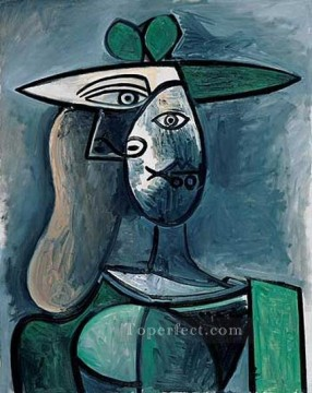 Famous Abstract Painting - Femme au chapeau1 1961 Cubism