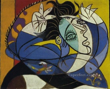 Femme aux bras leves Tete de Dora Maar 1936 Cubism Oil Paintings
