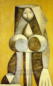 Femme debout 1946 Cubism Oil Paintings
