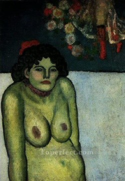 Femme nue assise 1899 Cubism Oil Paintings