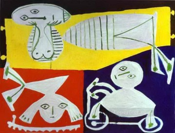 cubism works - Francoise Gilot with Claude and Paloma 1951 Cubism