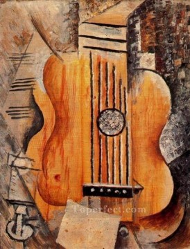 Guitare Jaime Eva 1912 Cubism Oil Paintings