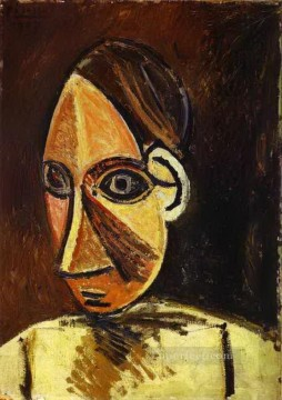 Head of a Woman 1907 Cubism Oil Paintings