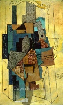 Homme a la cheminee 1916 Cubism Oil Paintings