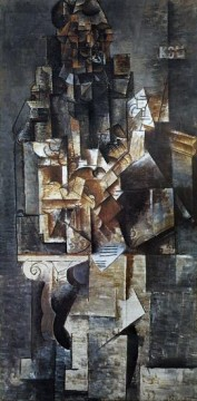 Homme a la guitare 1 1912 Cubism Oil Paintings