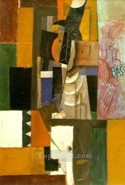Homme a la guitare 1912 Cubism Oil Paintings