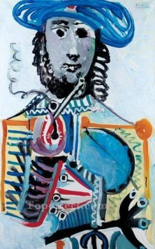 Homme a la pipe 1 1968 Cubism Oil Paintings