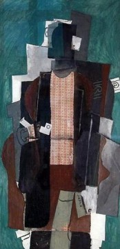 Homme a la pipe 1911 Cubism Oil Paintings
