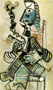 Homme a la pipe 1968 Cubism Oil Paintings