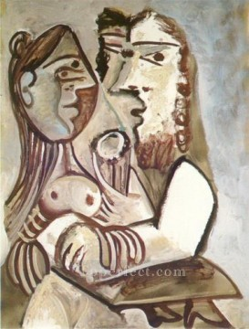 Homme et femme 1971 Cubism Oil Paintings