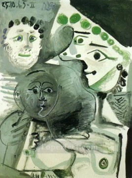 Homme mere et enfant II 1965 Cubism Oil Paintings
