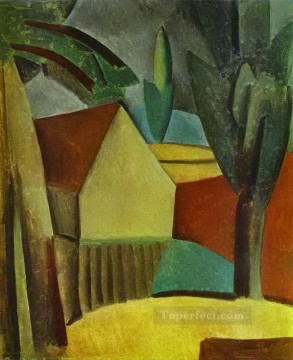 1908 Works - House in a Garden 1908 Cubism